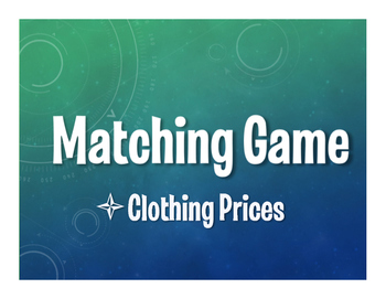 Spanish Clothing Prices Matching Game