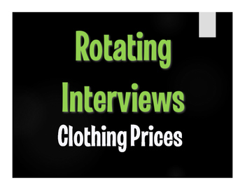 Spanish Clothing Prices Rotating Interviews