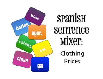 Spanish Clothing Prices Sentence Mixer
