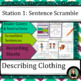 Spanish Clothing / Ropa Descriptions: Sentence Structure Centers / Stations