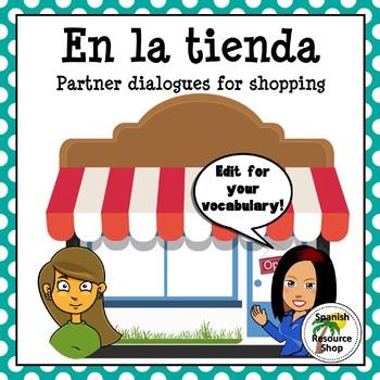 Spanish Clothing Shopping Partner Practice Dialogues