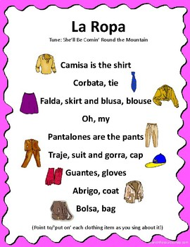 Spanish Clothing Song