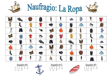 Spanish Clothing Speaking/Writing  Activity (Naufragio)