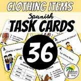 Spanish Clothing Task Cards