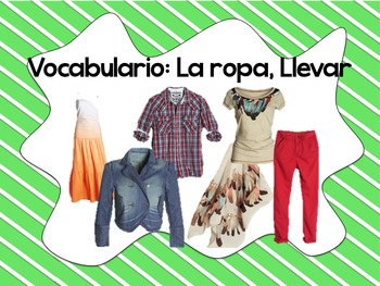 Spanish Clothing Unit Vocabulary PowerPoint