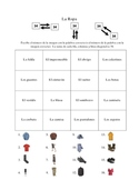 Spanish Clothing Vocabulary Activities - Magic Squares
