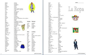 Spanish Clothing Vocabulary English/Spanish and Spanish/English