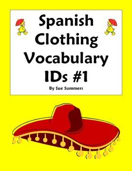 Spanish Clothing Vocabulary IDs Worksheet - La Ropa
