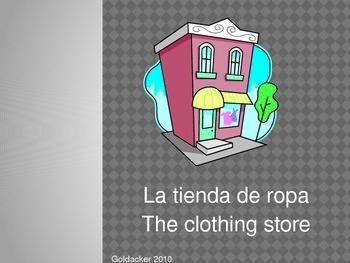 Spanish - Clothing Vocabulary PowerPoint