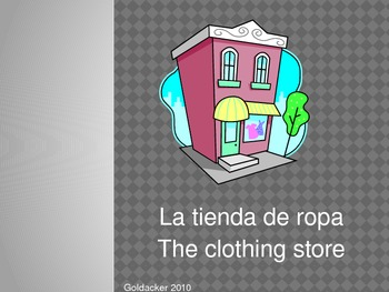 Spanish - Clothing Vocabulary PowerPoint