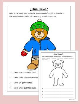 Spanish Clothing and Colors - La Ropa y Los Colores - fun activity