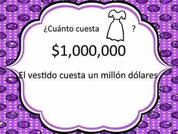 Spanish Clothing and Cuesta with Numbers 100-1,000,000 Powerpoint