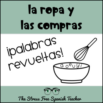 Spanish Clothing and Shopping Vocabulary Activity and Quiz!  (7A)