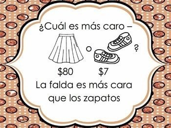 Spanish Clothing with Comparisons Powerpoint