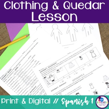 Spanish Clothing with Quedar Lesson