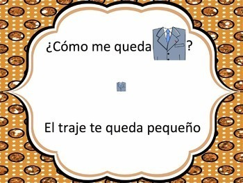 Spanish Clothing with Quedar Powerpoint
