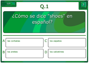 Spanish Clothing Vocabulary and SmartBoard Games