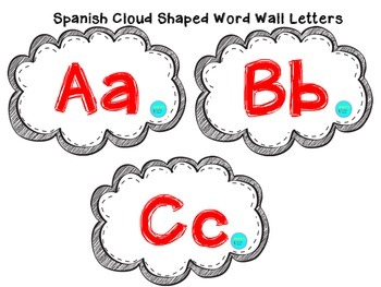 Spanish Cloud Shaped Word Wall