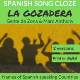 Spanish Cloze Gente de Zona ft Marc Anthony - La Gozadera, Spanish countries