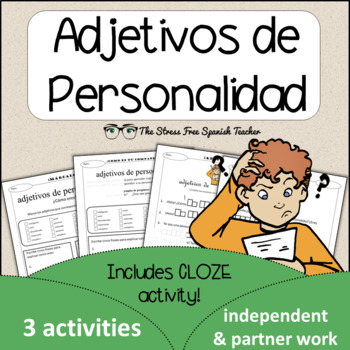 Spanish Cloze Printable, Differentiated, Vocabulary: Adjet