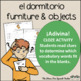 Spanish Cloze Printable, Differentiated, Vocabulary: Dormitorio / Bedroom