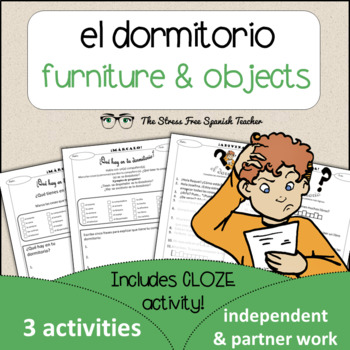 Spanish Cloze Printable, Differentiated, Vocabulary: Dormi