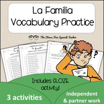 Spanish Cloze Printable, Differentiated, Vocabulary: La Fa