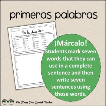 Spanish Cloze Printable, Differentiated, Vocabulary: La Sala de Clases