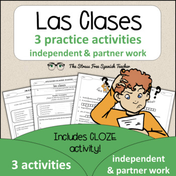 Spanish Cloze Printable, Differentiated, Vocabulary: Las C