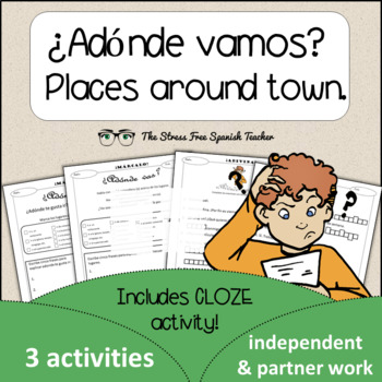 Spanish Cloze Printable, Differentiated, Vocabulary: Place