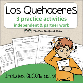 Spanish Cloze Printable, Differentiated, Vocabulary: Queha