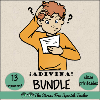 Spanish Cloze Printables BUNDLE, Differentiated, Vocabulary