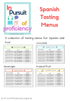 Spanish Food/Beverage Tasting Sheets (degustaciones)