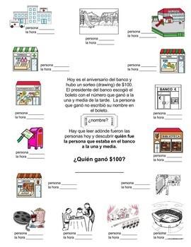 Spanish Clue - preterite & imperfect verbs, town vocabulary