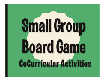 Spanish CoCurricular Activities Board Game