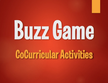 Spanish CoCurricular Activities Buzz Game