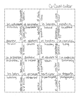 Spanish CoCurricular Activities Jigsaw Puzzle