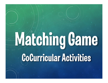 Spanish CoCurricular Activities Matching Game