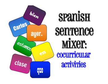 Spanish CoCurricular Activities Sentence Mixer