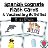 Spanish Cognate Flash Cards and Vocabulary Activities - Set 1