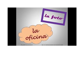 Spanish Cognate Powerpoint/Bulletin Board