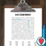 Spanish Cognates - WORD SEARCH - Easy Spanish Sub Plans