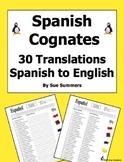 Spanish Cognates 30 Spanish to English Translations