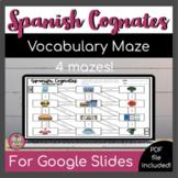 Spanish Cognates Activity Vocabulary Maze   Digital + Print   Distance Learning