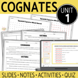 Spanish Cognates UNIT BUNDLE!