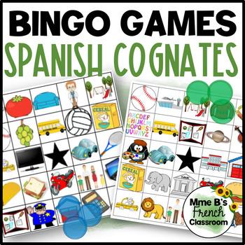 Spanish Cognates Bingo