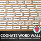 Spanish Bundle - Spanish Cognate PowerPoint, Word Wall and Word Searches