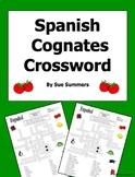Spanish Cognates Crossword, Vocabulary and Image IDs