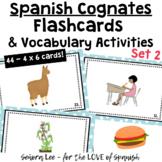 Spanish Cognates Flash Cards and Vocabulary Activities - Set 2