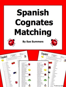 Spanish Cognates Matching
